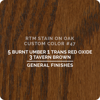 General Finishes RTM Wood Stain Custom Color Color - #47 (ON OAK)