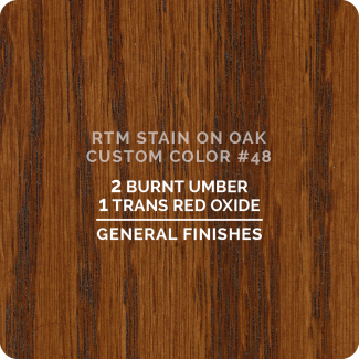 General Finishes RTM Wood Stain Custom Color Color - #48 (ON OAK)