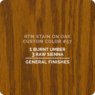 General Finishes RTM Wood Stain Custom Color Color - #57 (ON OAK)