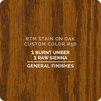 General Finishes RTM Wood Stain Custom Color Color - #58 (ON OAK)