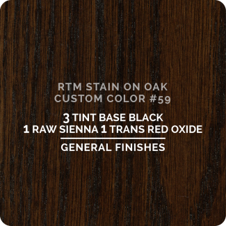 General Finishes RTM Wood Stain Custom Color Color - #59 (ON OAK)