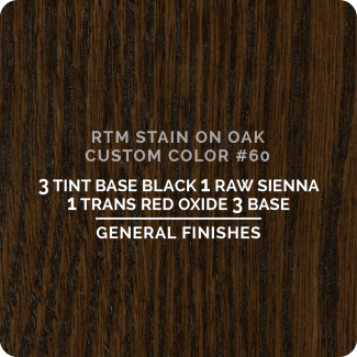 General Finishes RTM Wood Stain Custom Color Color - #60 (ON OAK)