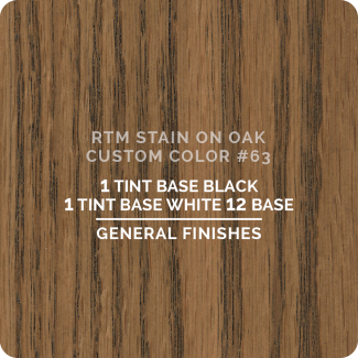 General Finishes RTM Wood Stain Custom Color Color - #63 (ON OAK)