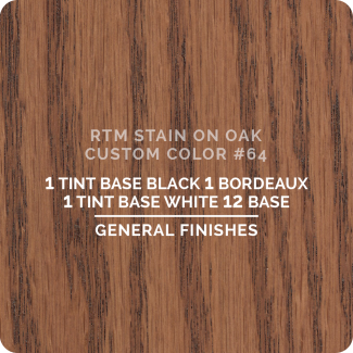General Finishes RTM Wood Stain Custom Color Color - #64 (ON OAK)