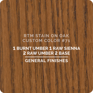 General Finishes RTM Wood Stain Custom Color Color - #71 (ON OAK)