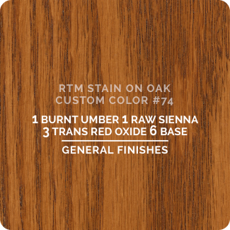 General Finishes RTM Wood Stain Custom Color Color - #74 (ON OAK)