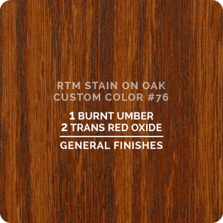 General Finishes RTM Wood Stain Custom Color Color - #76 (ON OAK)