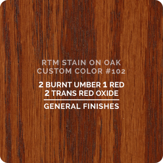 General Finishes RTM Wood Stain Custom Color Color - #77 (ON OAK)