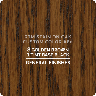 General Finishes RTM Wood Stain Custom Color Color - #80 (ON OAK)
