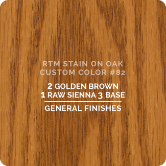 General Finishes RTM Wood Stain Custom Color Color - #82 (ON OAK)