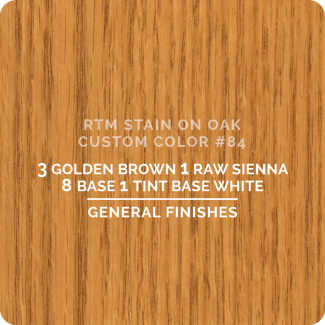 General Finishes RTM Wood Stain Custom Color Color - #84 (ON OAK)