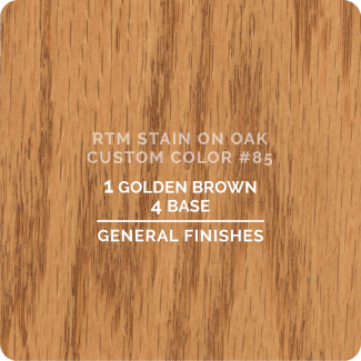 General Finishes RTM Wood Stain Custom Color Color - #85 (ON OAK)