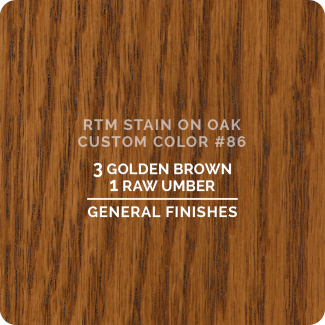 General Finishes RTM Wood Stain Custom Color Color - #86 (ON OAK)
