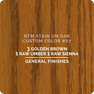 General Finishes RTM Wood Stain Custom Color Color - #87 (ON OAK)