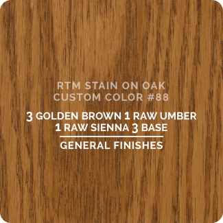 General Finishes RTM Wood Stain Custom Color Color - #88 (ON OAK)