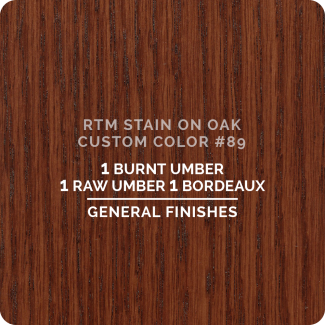 General Finishes RTM Wood Stain Custom Color Color - #89 (ON OAK)
