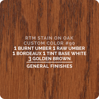 General Finishes RTM Wood Stain Custom Color Color - #90 (ON OAK)