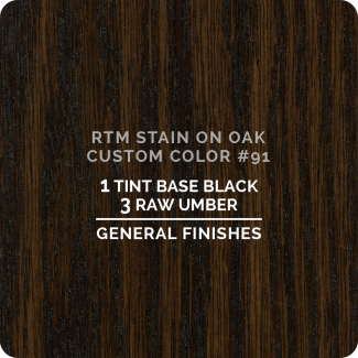 General Finishes RTM Wood Stain Custom Color Color - #91 (ON OAK)