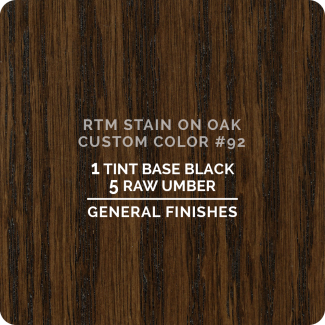 General Finishes RTM Wood Stain Custom Color Color - #92 (ON OAK)