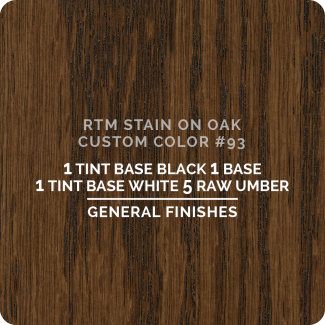 General Finishes RTM Wood Stain Custom Color Color - #93 (ON OAK)