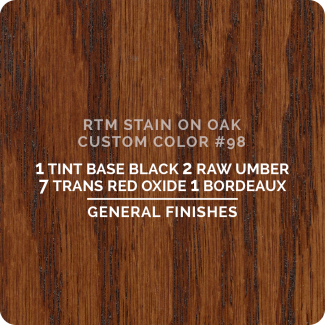 General Finishes RTM Wood Stain Custom Color Color - #98 (ON OAK)