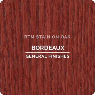 General Finishes RTM Wood Stain Stock Color - Bordeaux (ON OAK)