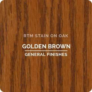 General Finishes RTM Wood Stain Stock Color - Golden Brown (ON OAK)