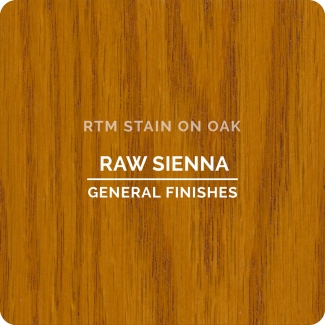 General Finishes RTM Wood Stain Stock Color - Raw Sienna (ON OAK)