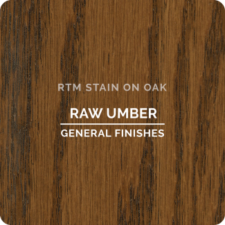 General Finishes RTM Wood Stain Stock Color - Raw Umber (ON OAK)