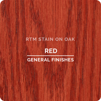 General Finishes RTM Wood Stain Stock Color - Red (ON OAK)