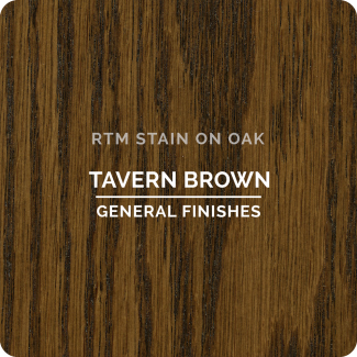 General Finishes RTM Wood Stain Stock Color - Tavern Brown (ON OAK)