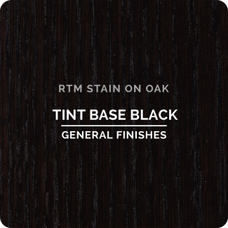 General Finishes RTM Wood Stain Stock Color - Tint Base Black (ON OAK)