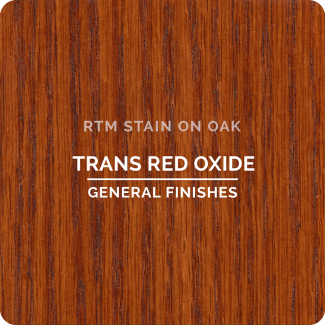 General Finishes RTM Wood Stain Stock Color - Trans Red Oxide (ON OAK)