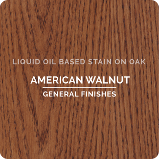 Color-chip-liquid-oil-based-stain-American Walnut on Oak