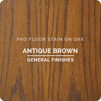 Pro Floor Stain - Antique Brown On Oak