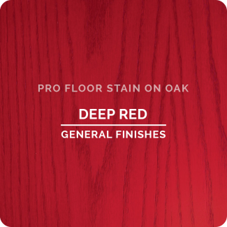 Pro Floor Stain - Bright Red On Oak