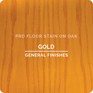 Pro Floor Stain - Gold On Oak