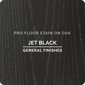 Pro Floor Stain - Jet Black On Oak