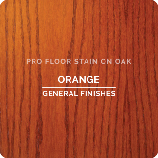 Pro Floor Stain - Orange On Oak