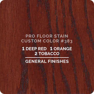 Pro Floor Stain - Custom Color #383