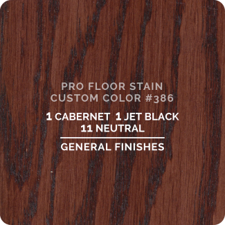 Pro Floor Stain - Custom Color #386