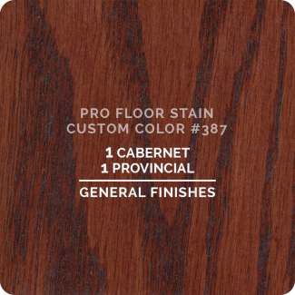 Pro Floor Stain - Custom Color #387