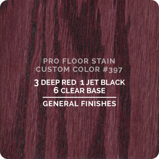 Pro Floor Stain - Custom Color #397