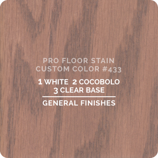 Pro Floor Stain - Custom Color #433
