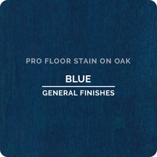 Pro Floor Stain - Blue On Oak
