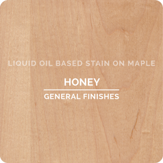 General Finishes Oil Based Liquid Wood Stain - Honey (ON MAPLE)