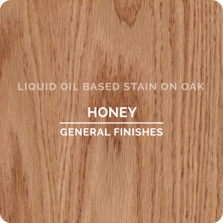 General Finishes Oil Based Liquid Wood Stain - Honey (ON OAK)