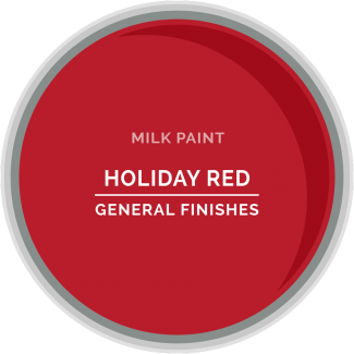 General Finishes Milk Paint - Holiday Red