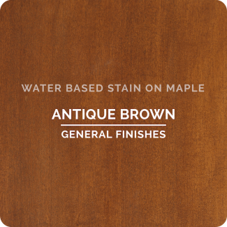 General Finishes Water Based Wood Stain - Antique Brown (ON MAPLE)