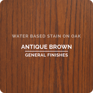 General Finishes Water Based Wood Stain - Antique Brown (ON OAK)